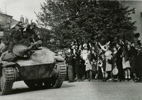 Wlassow-Armee in Příbram (Foto: Archiv des Bergbau-Museums Příbram)