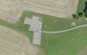 Les vestiges de site de Libice des Slavnikides, photo: Geodis Brno / Seznam Mapy