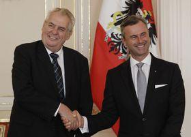 Miloš Zeman, Norbert Hofer, photo: CTK