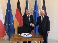 Miloš Zeman und Frank-Walter Steinmeier (Foto: ČTK / Ondřej Deml)