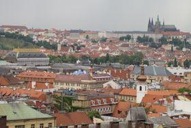 Вид, открывающийся с башни Новоместской ратуши на Карловой площади, Фото: Кристина Макова, Чешское радио - Радио Прага