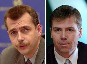 Současného prezidenta Českých aerolinií Jaroslava Tvrdíka (vlevo) nahradí ve funkci Radomír Lašák, foto: ČTK