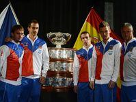 Ivo Minář, Lukáš Rosol, Radek Štěpánek, Tomáš Berdych, coach Jaroslav Navrátil, photo: CTK