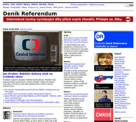 Photo: Site officiel du journal internet Deník Referendum