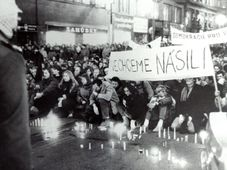November 17 1989, Národní třída, photo: Memory of Nation
