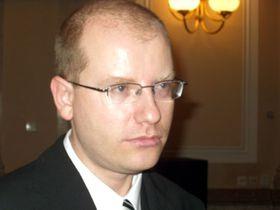 Ministr financí Bohuslav Sobotka