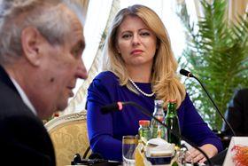 Miloš Zeman y Zuzana Čaputová, foto: ČTK/Šimánek Vít