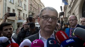 Глава партийного списка социал-демократов Любомир Заоралек после выборов, Фото: ЧТК