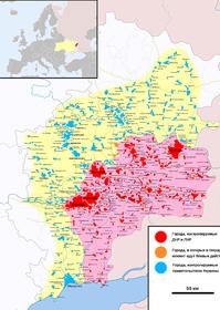 Карта ДНР и ЛНР, источник: Marktaff, ZomBear, CC BY-SA 4.0