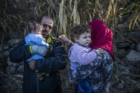 Беженцы на греческом побережье, Фото: ЧТК