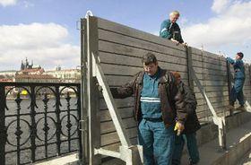 Medidas de protección de Praga en caso de los inundaciones, foto: CTK