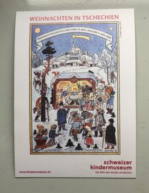Рисунок Йозефа Лады на открытке, выпущенной к чешской выставке в Швейцарии