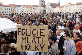 Cemonstrace vČeských Budějovicích, foto: ČTK