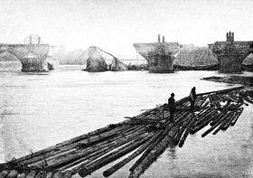 Überschwemmung an der Moldau im Jahre 1890 (Foto: Public Domain)