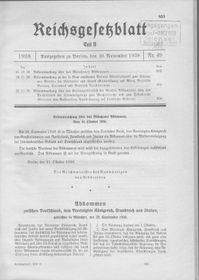 Veröffentlichung der Bekanntmachung über das Münchener Abkommen (Foto: A. Wagner, Wikimedia Commons, Public Domain)