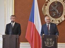 Andrej Babiš und Miloš Zeman (Foto: ČTK / Vít Šimánek)