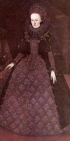 Svatební portrét Anny Marie ze Žerotína