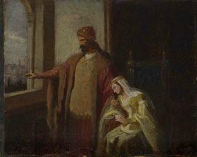 Karel Javůrek: Přemysl Otakar II. und Kunigunde von Halitsch (Quelle: Nationalgalerie in Prag, Wikimedia Commons, Public Domain)