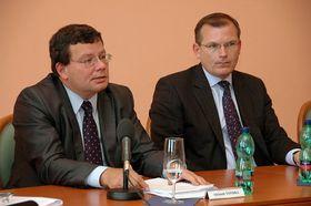 Alexandr Vondra (vlevo) aJiří Šedivý, foto: Ministerstvo obrany ČR