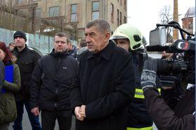 Премьер Андрей Бабиш на месте трагедии, фото: ЧТК/Славомир Кубеш