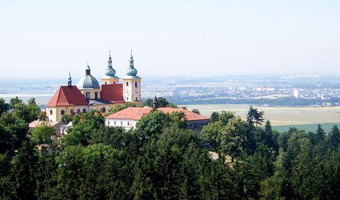 Zona de peregrinación de Svatý Kopeček de Olomouc con la basílica de la Visitación de la Virgen María. Foto: Vyty77, CC BY 3.0