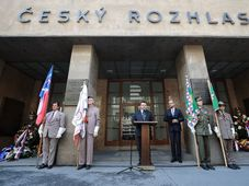 A ceremony at the Czech Radio building, photo: Jakub Plíhal
