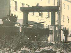Una de las mayores resistencias militares se dio en el 7. Regimiento Paracaidista de Holešov, foto: ČT Brno
