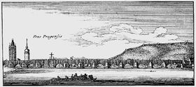 Stone bridge by Wenceslas Hollar from 1631