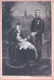 Наследник австро-венгерского трона принц Рудольф с семьей (около 1883 г.)