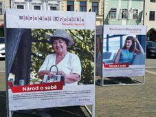 Crónica Nacional, la exhibición en la ciudad de České Budějovice, foto: Andrea Zahradníková