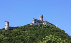 Castillo de Bezdez, la región de Karel Hynek Mácha