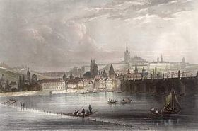 Charles Bridge in 1840