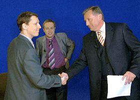 Stanislav Gross (a la izquierda) y Mirek Topolanek (Foto: CTK)