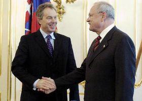 Prime Minister Tony Blair with Slovak President Ivan Gasparovic, photo: CTK
