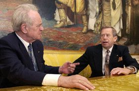 Václav Havel y Johannes Rau