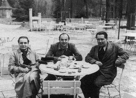 Toyen avec Jindřich Heisler et Karel Teige en 1940, photo: public domain