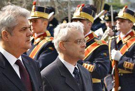 Primeros ministros Adrian Nastase y Vladimír Spidla, foto: CTK