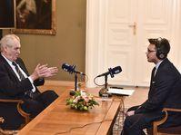 Miloš Zeman en entrevista con la Radiodifusión Checa, foto: Filip Jandourek, ČRo