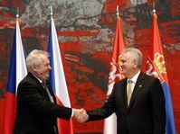 Miloš Zeman et Tomislav Nikolić, photo: ČTK