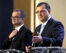 Miroslav Kalousek y Petr Nečas, foto: ČTK