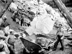 Bau des Lipno-Stausees (Foto: Tschechisches Fernsehen)