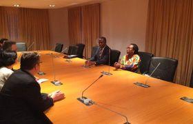 Martin Tlapa et Khoudia Mbaye, photo: MZV