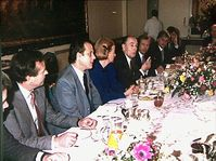 Francois Mitterrand had breakfast with leading dissidents in Prague in 1988, photo: archive of French Embassy in Prague