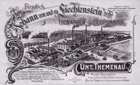 Liechtensteinische Ziegelfabrik in Poštorná