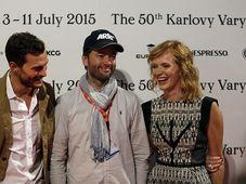 Jamie Dornan, Sean Ellis, Ańa Geislerová, photo: Film Servis Festival Karlovy Vary