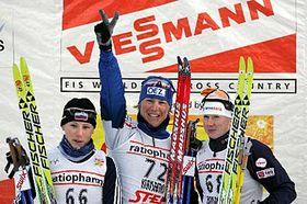 Katerina Neumannova (en medio) Foto: CTK