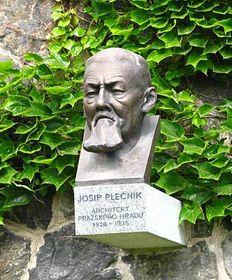 Памятник Плечнику в Южных садах Пражского града (Фото: Архив Чешского радио - Радио Прага)