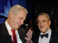 Miloš Zeman et Karel Schwarzenberg, photo: CTK