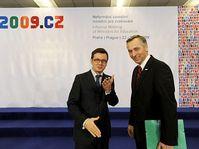 Ondřej Liška y Ján Figel, foto: www.eu2009.cz