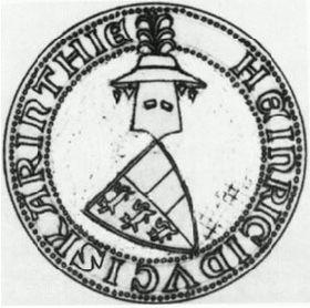 Pečeť Jindřicha Koruntanského zroku 1303